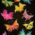 simétrico · patrón · negro · orquídeas · mariposas · rosa - foto stock © cherju