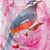 aquarela · floral · pássaro · belo · projeto · branco - foto stock © cherju