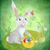 Easter · Bunny · eieren · groene · grunge · achtergrond · gras - stockfoto © cherju
