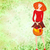 Rood · jonge · vrouw · Pasen · mand · groene · aquarel - stockfoto © cherju