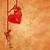 rojo · corazón · dorado · clave · 3D · reflexión - foto stock © cherju