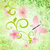 spring green grunge background with pink flowers and butterflies stock photo © cherju