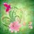 tavasz · pillangó · rózsaszín · virág · zöld · háttér - stock fotó © cherju