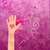 hand with heart giving love friendship peace or help magenta stock photo © cherju