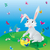 easter hare on the green grass under blue sky with eggs in baske stock photo © cherju