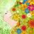 lentebloemen · fairy · gezicht · groene · grunge · verschillend - stockfoto © cherju