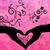 pessoa · manter · vermelho · coração · mão · vetor - foto stock © cherju
