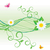 daisy and butterfly green spring and summer nature vector stock photo © cherju