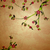 blossoming tree illustration on grunge old paper background stock photo © cherju