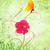 primavera · mariposa · flor · rosa · grunge · verde · Pascua - foto stock © cherju