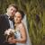 romantische · bruid · ander · ogen · strand · bloemen - stockfoto © chesterf