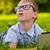 nino · cuaderno · sentarse · cielo · azul · negocios · tecnología - foto stock © chesterf