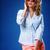 женщину · наушники · Солнцезащитные · очки · белый - Сток-фото © chesterf