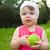 little girl holding green apple stock photo © chesterf