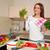 kadın · salata · mutfak · sağlıklı · beslenme · yaşam · tarzı - stok fotoğraf © chesterf