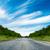 drogowego · lasu · Błękitne · niebo · niebo · drzewo - zdjęcia stock © chesterf