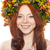 flower wreath on head over white stock photo © chesterf