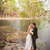 bridal couple standing near lake stock photo © chesterf