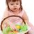 páscoa · menina · ovos · cesta · engraçado · coelho - foto stock © chesterf