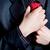 бизнесмен · зевать · скучный · серый · костюм · красный - Сток-фото © chesterf