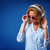 woman wearing headphones and sunglasses stock photo © chesterf