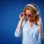 женщину · наушники · Солнцезащитные · очки · красивой · позируют - Сток-фото © chesterf
