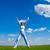 nuvem · mulher · mãos · blue · sky · naturalismo · cuidar - foto stock © chesterf