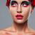 beleza · profissional · make-up · morena · vermelho - foto stock © chesterf