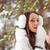vrouw · lopen · winter · park · brunette · hoofd - stockfoto © chesterf
