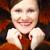 молодые · улыбающаяся · женщина · моде · шуба · розовый - Сток-фото © chesterf