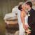пару · Постоянный · озеро · камней · свадьба - Сток-фото © chesterf