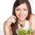 beautiful brunette woman eating salad stock photo © chesterf