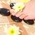 Frau · Fuß · Blume · Hautpflege · Fuß · Massage - stock foto © chesterf