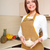 młoda · kobieta · jedzenie · zbóż · kuchnia · dziewczyna · szkła - zdjęcia stock © chesterf