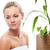 boldog · szőke · nő · bambusz · fényes · kép · haj - stock fotó © chesterf
