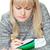 student · blond · meisje · schrijven · huiswerk · vrouw - stockfoto © chesterf