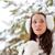 vrouw · lopen · winter · park · brunette · mooie · vrouw - stockfoto © chesterf