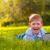 gyermek · notebook · ül · kék · ég · üzlet · technológia - stock fotó © chesterf