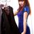 młodych · uśmiechnięta · kobieta · ubrania · showroom · kobieta · zakupy - zdjęcia stock © chesterf