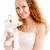 happy woman holding rabbit stock photo © chesterf