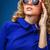 belo · azul · vestir · estúdio · retrato - foto stock © chesterf