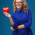 woman holding heart shape stock photo © chesterf
