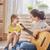madre · figlia · giocare · chitarra · famiglia · felice · insieme - foto d'archivio © choreograph