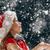 little girl catching snowflakes stock photo © choreograph