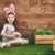 lány · visel · nyuszi · fülek · aranyos · kicsi - stock fotó © choreograph
