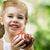 sağlıklı · beslenme · gıda · güzellik · kız · kırmızı · elma - stok fotoğraf © choreograph