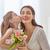 dochter · moeder · kind · briefkaart · mamma - stockfoto © choreograph