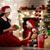 familie · christmas · viering · haard · jonge · afro-amerikaanse - stockfoto © choreograph
