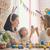 família · pintura · ovos · mãe · pai · família · feliz - foto stock © choreograph