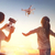 kid and mom playing with drone stock photo © choreograph